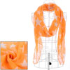 Girls Star Prints Fashionable Warm Scarf Orange White
