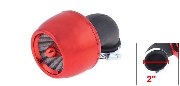 Thread Diameter 4.5cm Red Apple Shape Air Filter Cleaner for Auto Car