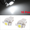 10pcs White T5 B8.5D Car 5050 SMD LED Speedo Dashboard Indicator Side Light Bulb