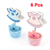 6 Pcs Pink Blue T-Shirt Shape Memo Name Card Photo Clip Holders