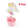 6 Pcs Play Boy Pattern Memo Name Card Photo Price Tags Clip Holders