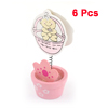 6 Pcs Pink White Baby Print Memo Name Card Photo Clip Holders