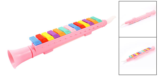 Compact Pink Plastic 13 Key Housing Pipe Melodica Musical Instrument