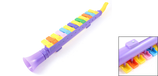 Child Kids 13 Keys Plastic Melodica Mouth Organ Portable Wind Piano Purple