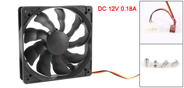 DC 12V 3Pin PC Computer Case CPU Cooler Brushless Cooling Fan 120x120x25mm