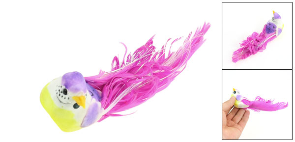 Home Artificial Fuchsia Bird Decor Fridge Cabinet Magnet Sticker