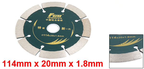 114mm Dia 8-Segment Circular Cutting Crack Chaser Saw Blade w Ring