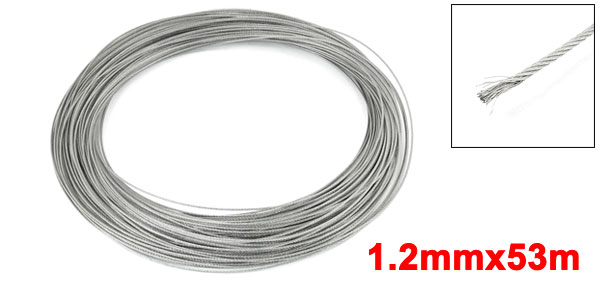 1.2mm Dia 53M Length 7x7 Stainless Steel Wire Rope Cable for Hoisting