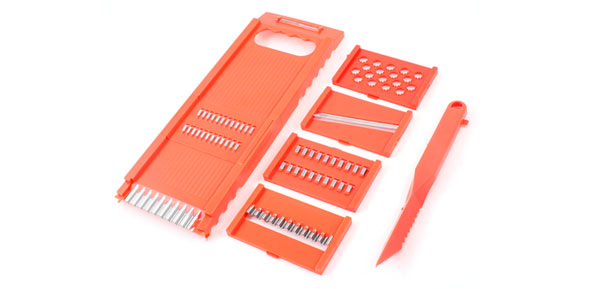Orange Red Plastic Multifuctional Vegetable Potato Grater Peeler Set