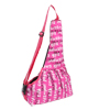 Fuchsia English Words Print Adjustable Strap Pet Dog Versipacks Bag