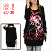 pullover red letters zebra printed front...