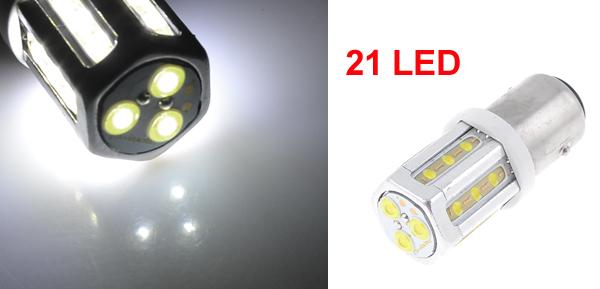 Auto Car 1157 BAY15D White 21 COB LED Bulb Turning Signal Brake Light Lamp