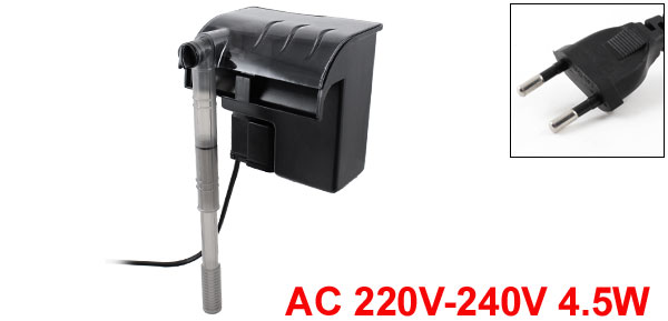 Fish Tank Aquarium 500L/H AC 220-240V 4.5W Electrical External Water Filter