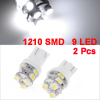 T10 W5W 194 158 Wedge White 3528 1210 SMD 9 LED Car Side Signal Light Lamp 2 Pcs