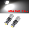 2 Pcs BA9S 1-SMD 5050 LED White Canbus Error Free Car Interior Light Lamp Bulb