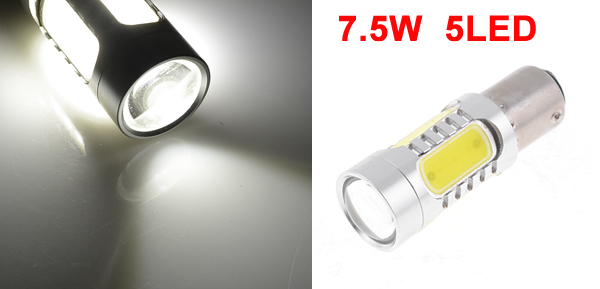 Vehicle Car BAY15D 1157 5 White SMD LED 7.5W Side Marker Light Lamp w Lens