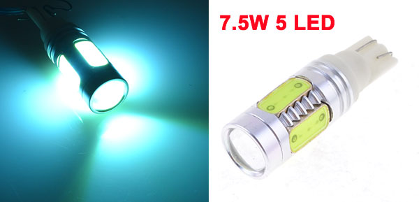 7.5W T10 159 W5W 5 SMD Ice Blue LED Car Turn Backup Reverse Light Corner Lamp
