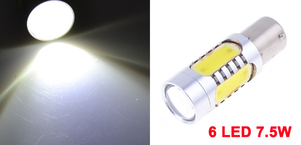 Car BA15S 1156 6 SMD White LED 7.5W Tail Turn Brake Signal Light Projector Lamp