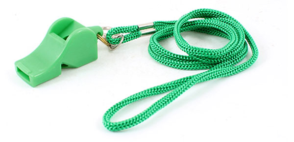 Volleyball Football Green Nylon Neck Strap Referee Whistles