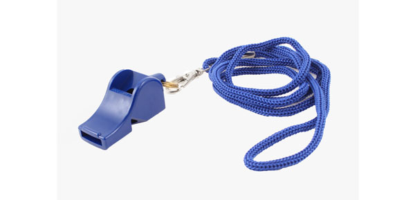 Football Basketball Blue Nylon Neck Strap Referee Type Whistles