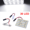 DC 12V White 30 SMD LED Auto Car Dome Light Panel + T10 Festoon Adapter