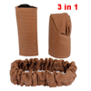 3 in 1 Coffee Color Auto Handbrake Shift Knob Rear...