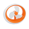 Orange White Plastic Oval Battery USB Power PC Lap...