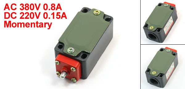 1NO 1NC SPDT Momentary Push Plunger Actuator Limit Switch LXP1-120/I