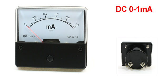 YS-670 DC 0-1mA Fine Tuning Dial Current Test Panel Meter Ammeter