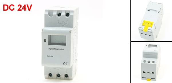 DC24V DIN Rail Mounted Week Time Reset Digital Programmable Timer Switch