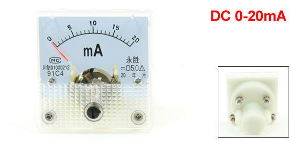 Class 5.0 Accuracy DC 0-20mA Analog Panel AMP Meter 91C4