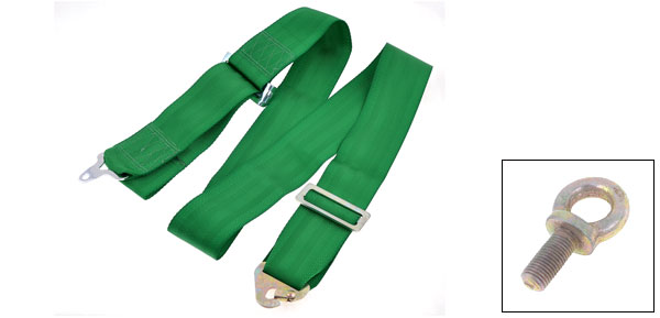 Auto Car Green 7.5cm Width 180-210cm 4-Point Safety Seat Belt Seatbelt Lap