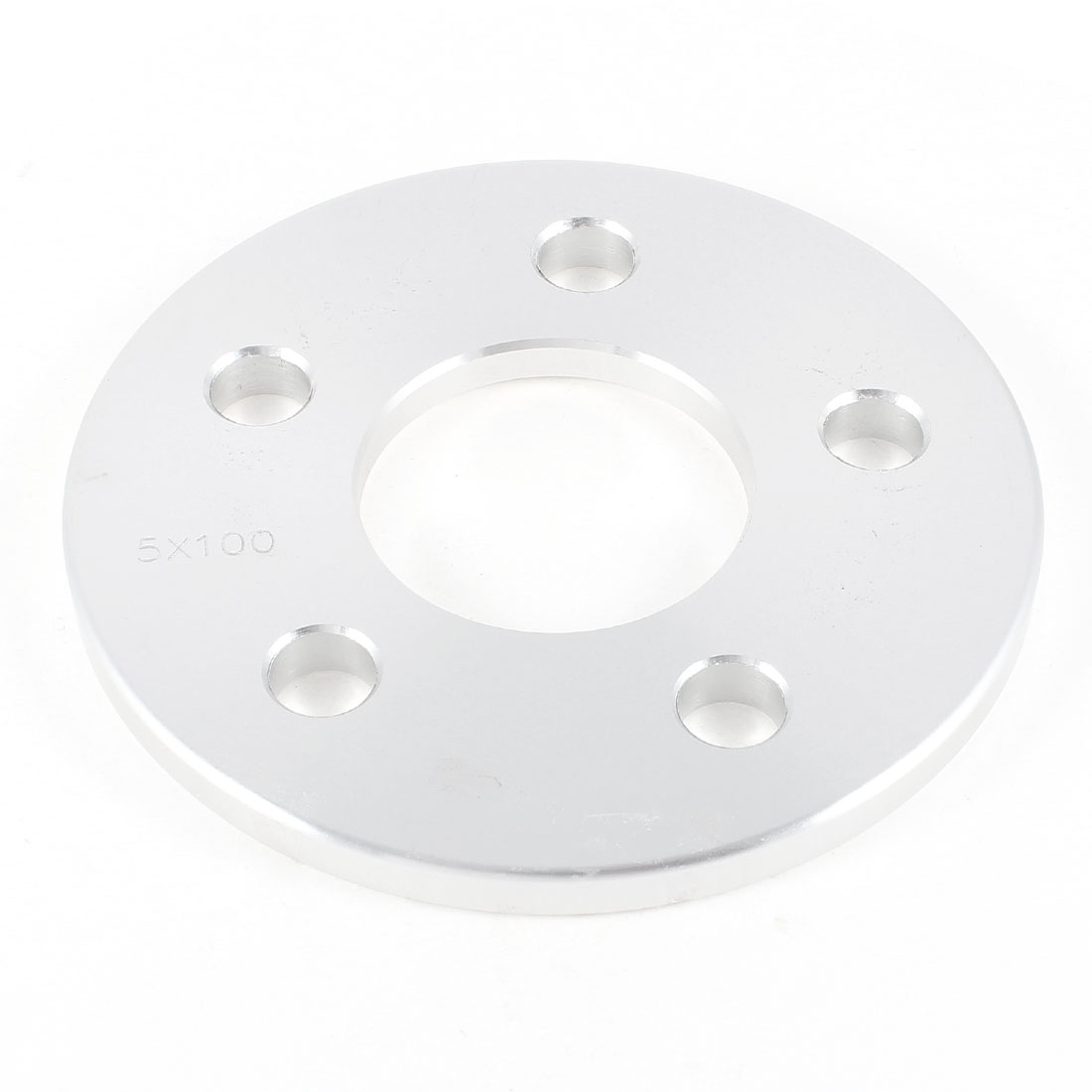 Auto-Universal-Silver-Tone-Metal-5-Holes-10mm-Thickness-Type-Wheel-Spacer