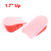 "Pair Pink Clear Silicone Gel Taller Heel Insert Insoles Pads 1.7"" Up"