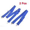 2 Pcs Auto Blue Nylon Adjustable 5-Point Safety Seat Belt 200 x 5cm