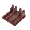Car Interior Brown Silicone Mat Pad SmartPhone Card Pen Support Holder Stand