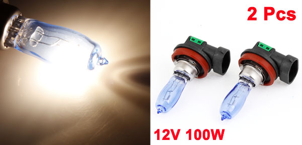 2pcs 100W H8 Xenon H0D Car Head Lamp White Bulb Light DC 12V w Case