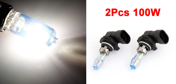 2 x DC 12V 100W 9005 White Xenon Fog Light Bulb w Case for Car