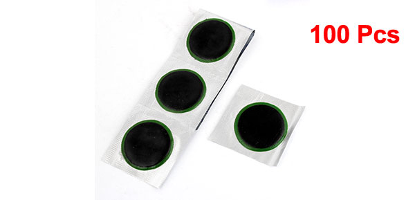 Car Tyre 4cm Dia Puncture Repair Patches Patch Rubber Tool 100 Pcs