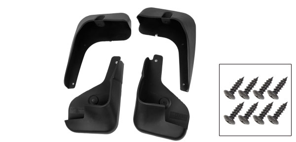 Car Black Front Rear Full Pairs Fender Board Splash Guards Mud Flaps for Nissan
