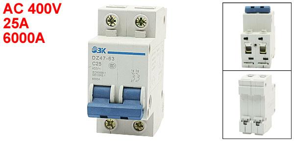 DZ47-63 6000A Max AC 400V ELCB Residual Earth Leakage Circuit Breaker
