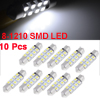 "X Autohaux 10 x 36mm 1.5"" 3528 1210 SMD 8 LED White Festoon Dome ..."
