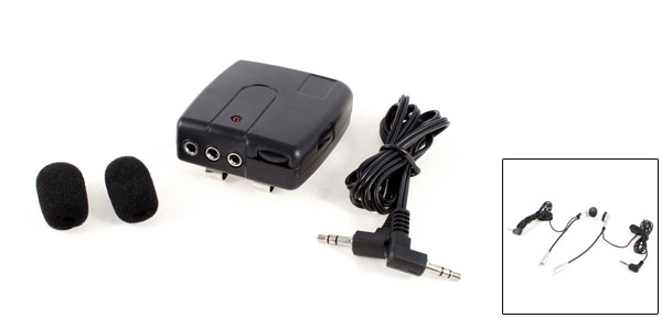 Motorcycle Helmet Motorbike Interphone Intercom 3.5mm Jack Dual 2 Way MP3 Earphone