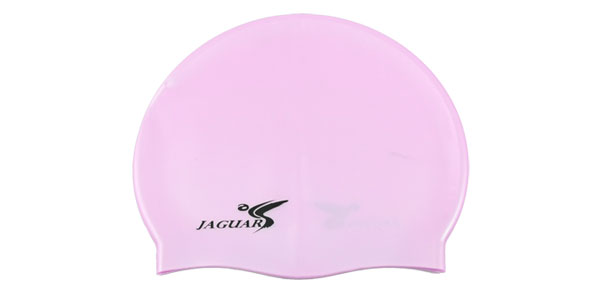 Soft Silicone Water Sports Swim Swimming Cap Hat Pink for Adults