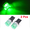 Car Auto DC 12V Dashboard T10 194 147 W5W LED Lamp Bulb Green 2 Pcs