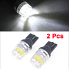 2PCS T10 2825 921 906 W5W White SMD LED Dashboard Gauge Light Lamp for Car