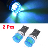 2 Pcs T10 W5W Ice Blue LED Dashboard Panel Gauge Lamp Bulb 12V for Car