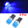 Car DC 12V T10 159 161 168 W5W LED Dashboard Light Lamp Bulb Blue 2 Pcs
