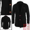 Men Two Button Closure Long Sleeve NEW Chic Worste...