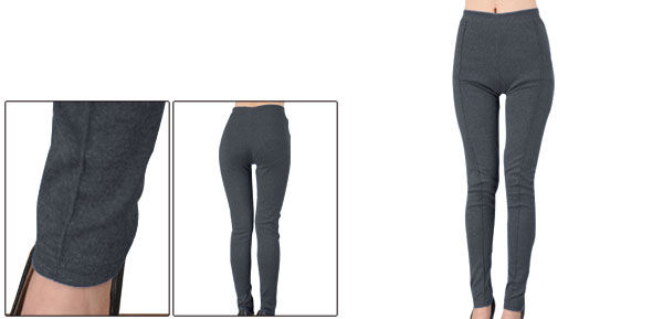 Autumn Lady Dark Gray Footless Tight Closefitting Basic Leggings XS